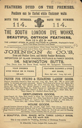 Advert For The South London Dye Works